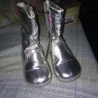 Elle boots silver 1to3yrs old