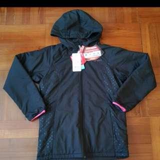 全新 購自日本 原裝 Asics CFW11K 夾棉外套 (黑色) M Size 原價9500円 (馬拉松)