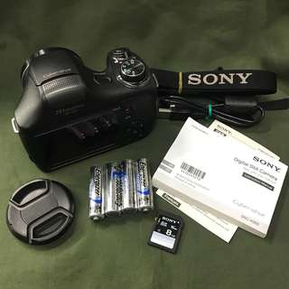 Sony dsc-H300 cybershot 20mp 35x optical zoom with accessories and bag