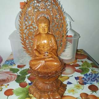 Carved a wooden Buddha Statue Unblessed.