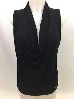 Michael Kors cowl neck sleeveless shirt women's size S