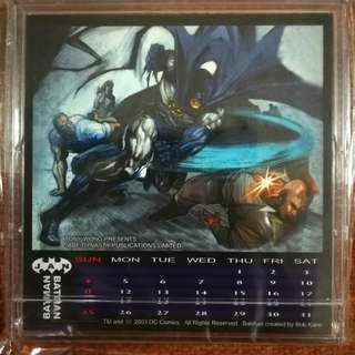 Batman calender by Jade Dynasty