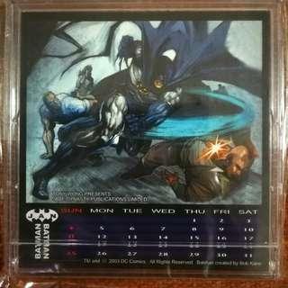 Batman calender by Jade Dynasty