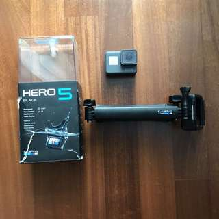 GoPro Hero 5 Black + GoPro 3 Way Mount (Free SD Card)