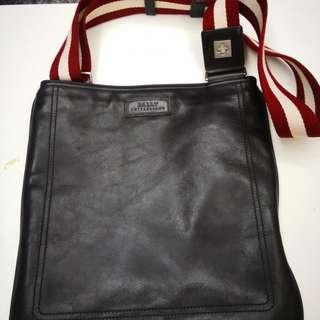 Unisex Bally leather sling bag
