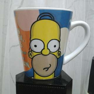 The Simpsons glass mug