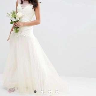 White wedding gown bridal