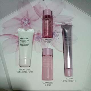 BN Shiseido White Lucent Brightening Cleansing Foam, Luminizing Infuser, Luminizing Surge, All Day Brightener N