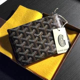 Goyard Senat Paris leather mini Pouch bag black Italy