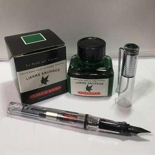 J Herbin Lierre Sauvage Fountain Pen Ink (30ml)