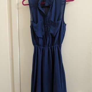 H&M blue dress size 4