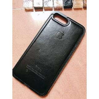 iphone7 plus leather case iphone8 256gb 128gb 黑色皮革包邊電話保護殻