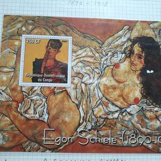 CONGO - 2004 - NUDE PAINTING - MINIATURE SHEET - MINT - fd39