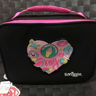 Smiggle Says Square Lunch Box (Black)