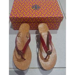 REPRICE TORY BURCH (KW MIRROR COPY QUALITY ) WEDGES RED SANDALS