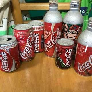 Coca Cola vintage cans