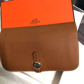Hermes Dogon Wallet Gold Color