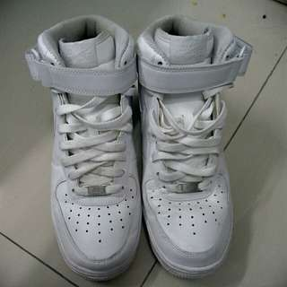 Nike Air Force 1 White High Cut Size 7 UK