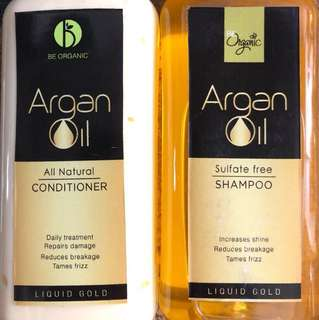 Be Organic Argan Oil Shampoo and Conditioner