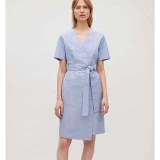 Cos Wrapover Cotton Dress