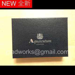Aquascutum London Folded Card Case 深綠色卡片套 日本製造