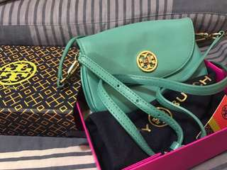 Tory Burch Tiffany green mini crossbody bag