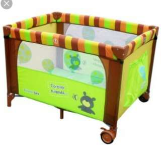 Bumble bee 2 layer playpen baby cot