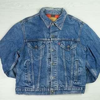 男裝古著Levi's格仔牛仔褸Levi's denim jacket