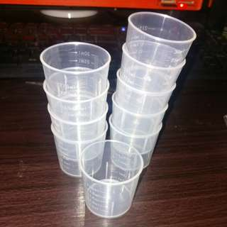 10pcs 30ml plastic mixing cup
