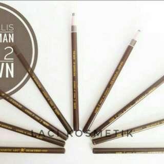 New Pencil Alis Panjang Coklat Import Harga Satuan