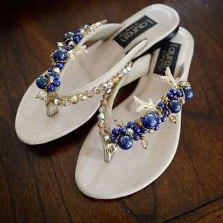swarovski slippers