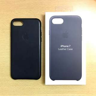 99% New Apple iPhone 7 Navy Leather Case  藍色 皮套 保護套 保護殼