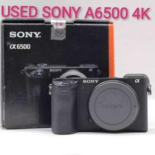 USED SONY A6500 4K MIRRORLESS CAMERA