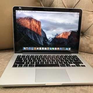 MacBook Pro Core i5 8Gb 256ssd (Retina,13inch,late 2013) 2.4GHz