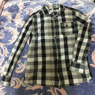 🚚 Esprit 大童格子襯衫