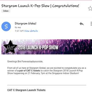 WTT Stargram Global tickets