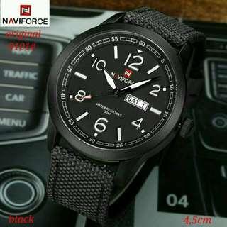 jam Naviforce 9101#1   original, tali kulit 3 warna dalaman 3 warna Tgl-hari aktif water resistant, garansi mesin 1 thn, Free box. Baguss Bangett  Berat 300gr  H 250rb