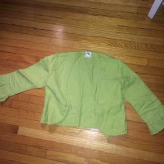 Green Cropped Jacket