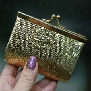 Chinese style wallet/purse (gold colour) · 銀包/散紙袋 (金色)