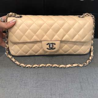 Chanel Lambskin East West Flap