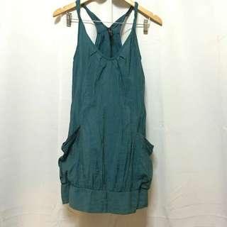 Blue green dress