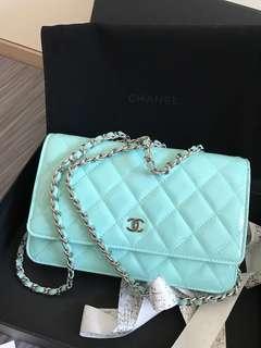 Chanel WOC Tiffany blue