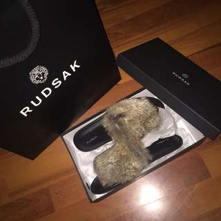 Rudsak Rabit fur slippers