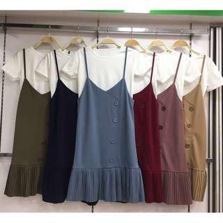 *PO* Bib Dress (Stretchy) including White Top