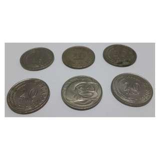 20 cents Singapore coin / Duit Syiling 20 Sen Lama