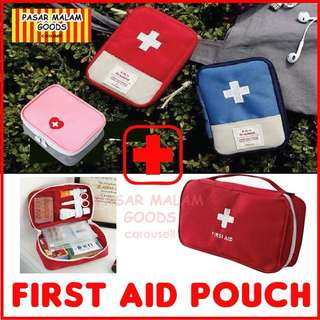 Instock BN First Aid Medicine Box Pouch Storage Travel Organizer Bag