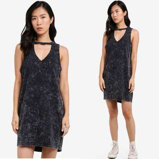Factorie Acid Wash Choker Dress