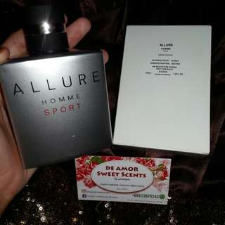 CHANNEL ALLURE HOMME SPORT TESTER
