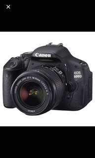Canon 600D with 18-55mm lens (NEGO)