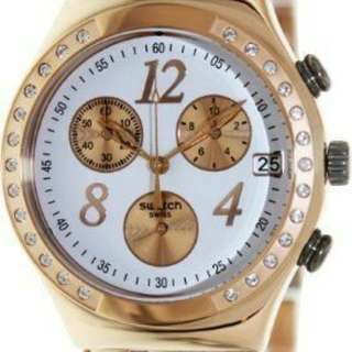 Irony dreamwhite rose chronograph rose gold=tone stell ladies watch